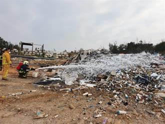 金門新塘垃圾場火警 民眾抱怨呼吸困難