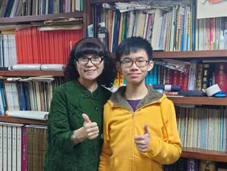 二信廖延鑫突破重度聽損障礙 勇奪全國聽障書法比賽第二名