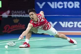 羽球年終賽》不敵安賽龍 周天成分組第二晉4強