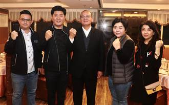台中市議會國民黨團書記長陳政顯、執行長吳瓊華獲蟬聯