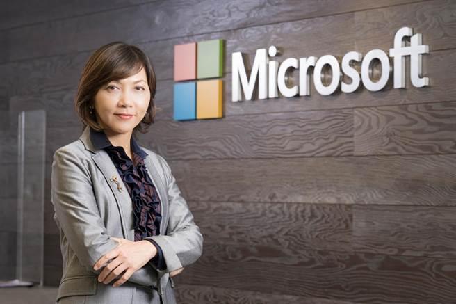 台灣微軟人事佈達,陳慧蓉接任台灣微軟首席營運長。(微軟提供/黃慧雯台北傳真)