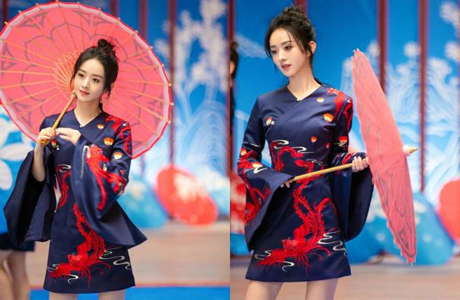 赵丽颖近期除了以古装剧《有翡》掀起话题,更同时拍摄《幸福到万家》、《谁是凶手》。(图/摘自微博@赵丽颖工作室)
