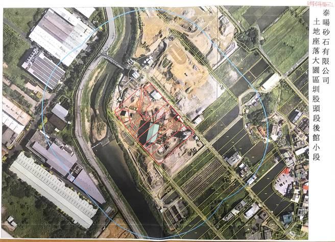 泰暘核准1.4公頃卻另外擴增3公頃,違規面積是原面積2倍。(朱珍瑤提供/蔡依珍桃園傳真)