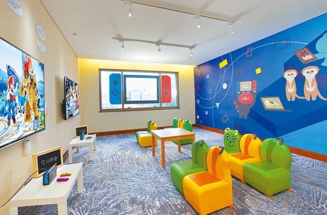 台北喜來登大飯店「手拉手樂園」Switch電玩區。(台北喜來登大飯店提供)