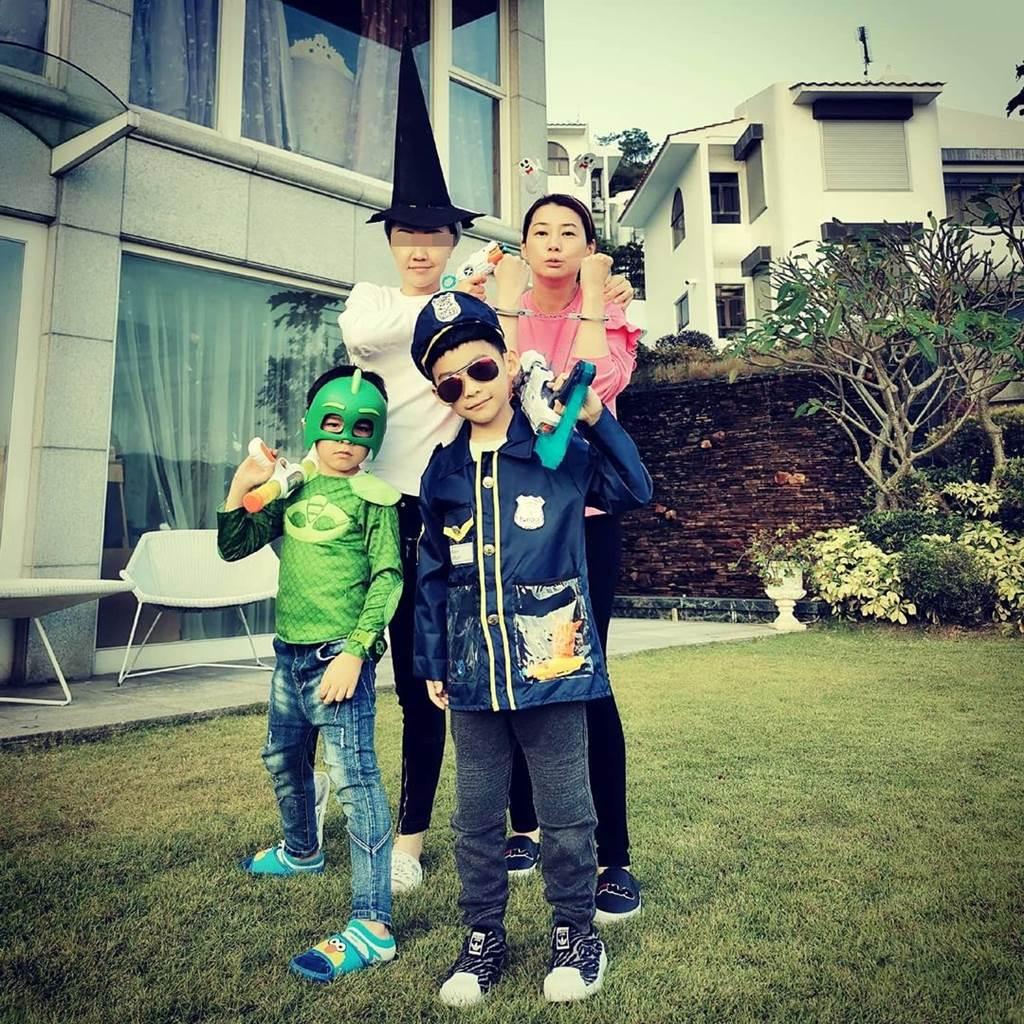 陳伶俐有3個兒子。(圖/翻攝自brianna.0li IG)
