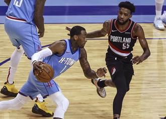 NBA》火箭新三巨頭亮相 驚險宰掉拓荒者摘勝