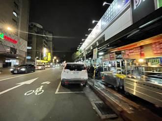 南昌路夜市畫設夜間禁停車格 市場處:兼顧停車需求及攤販生意