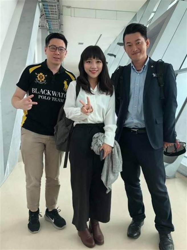 陳柏惟2019年曾PO出和黃捷、王浩宇合照。(取自陳柏惟臉書)