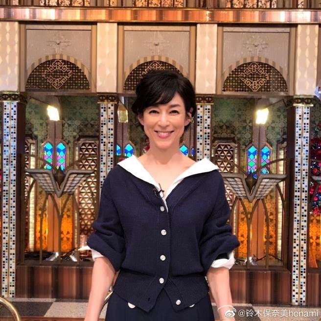 鈴木保奈美54歲身材外貌仍保養得宜。(取自鈴木保奈美微博)