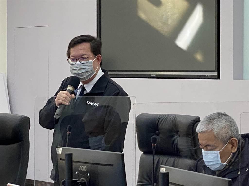 鄭文燦重申防疫沒假期,桃醫專案已1600人結束居隔採檢。(蔡依珍攝)