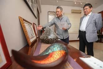 楊文科拜訪漆藝大師彭坤炎  盛讚台灣之光