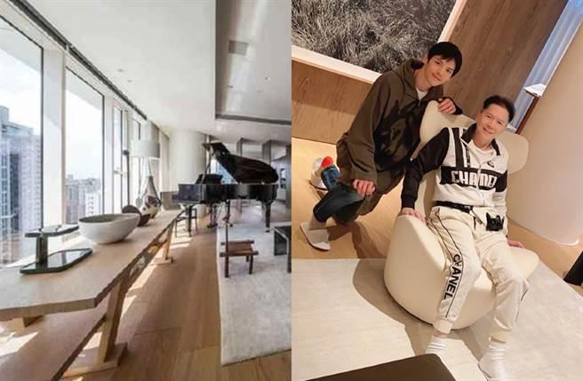 向太先前分享台北豪宅内部样貌。(图/翻摄自向太Tiffany陈岚微博)