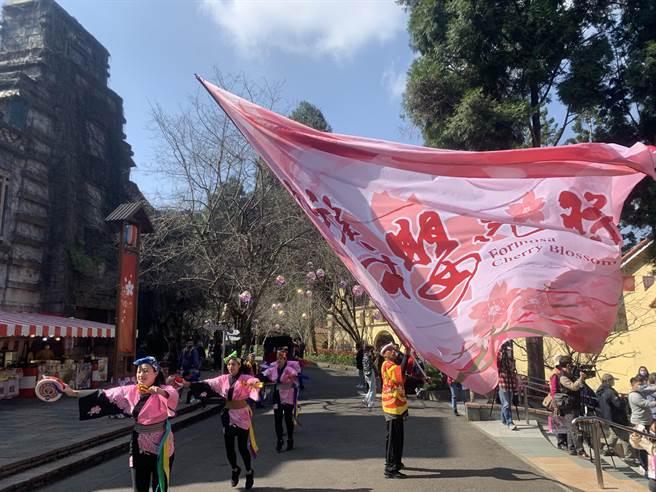 九族櫻花祭,30日開鑼啟動。(廖志晃攝)