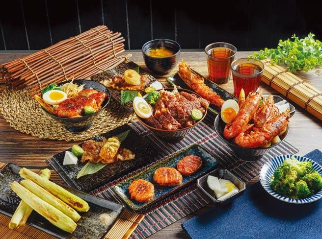 「大河屋」創造新型態日式料理新選擇,天母大葉高島屋首家店同步特別推出限定的丼飯、串燒。圖/大河屋提供