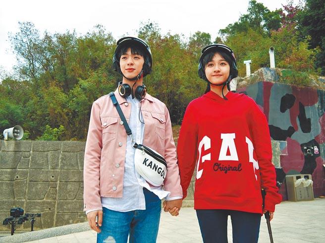 林亭翰(左)新歌MV邀方文琳的女兒齊薇合作。(青田音樂提供)