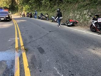 重機過北宜再現騎士自摔 波及後方3車事故