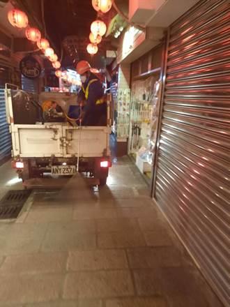 被列足跡 九份老街昨晚大消毒 阿妹茶樓停業3天