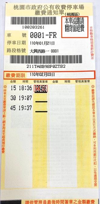 停車費溢繳865萬 桃首創退費通知
