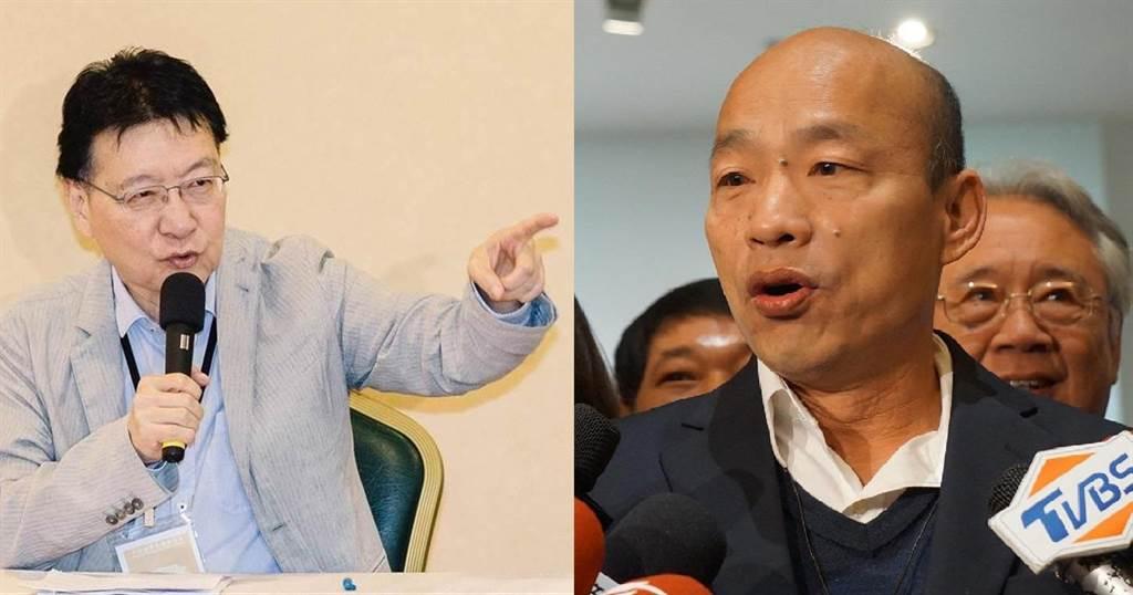 趙少康韓國瑜聯手後 黃暐瀚點名這3人危險了。資深媒體人趙少康(左)、前高雄市長韓國瑜(右)。(圖/本報資料照)