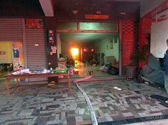 南市民宅防火巷雜物起火 前議員一家人及時逃生