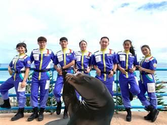 远雄海洋公园海狮巡警队新出击 春节红衣小童免费入园