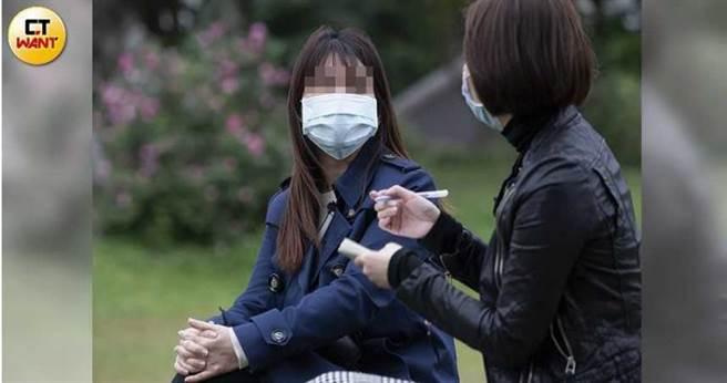 蕾蕾五官精緻,身邊不乏追求者,她和謝榜原在香港認識後,彼此很聊得來,對方猶如「大仁哥」般關心她的生活。(圖/黃威彬攝)