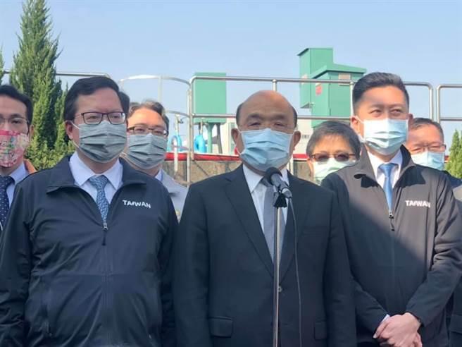行政院長蘇貞昌表示有關疫苗問題應以防疫中心消息為準。(呂筱蟬攝)