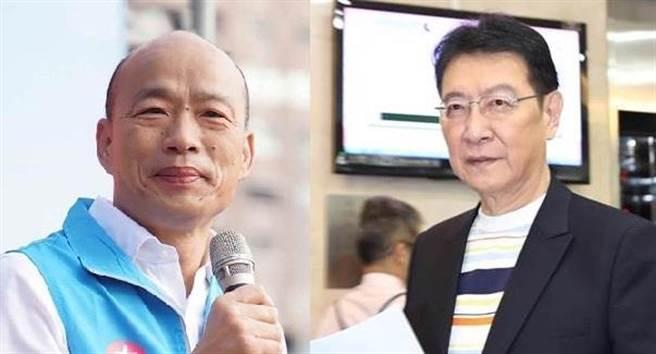 忧台湾会亡国,赵少康(右)透露与韩国瑜(左)私下对话。(中时资料照)