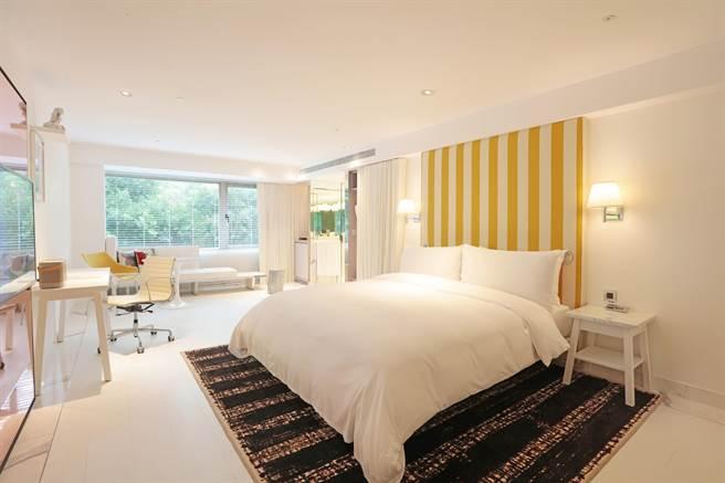 S Hotel 標準雙人房。(S HOTEL提供)
