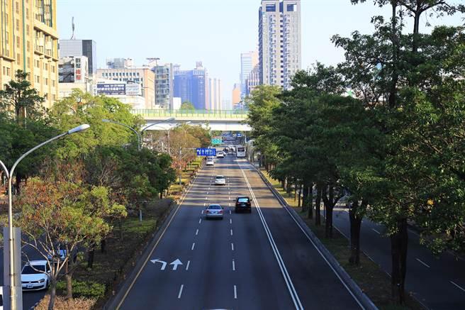 台中捷運藍線綜合規劃路線,將從台中火車站沿台灣大道直達台中港,全長24.78km。(陳世宗攝)