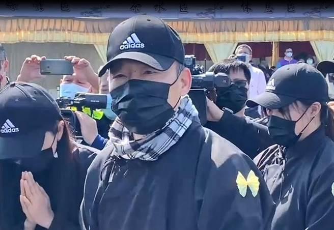 韓國瑜對於趙少康重回國民黨擬選黨主席,表達強烈敬意。(民眾提供/張朝欣雲林傳真)