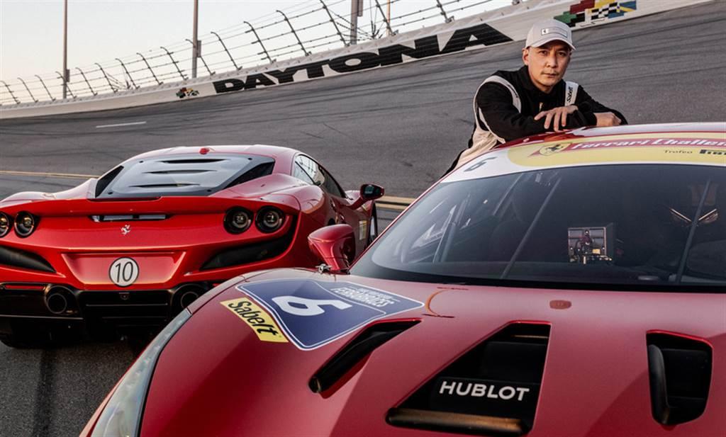 知名演員吳彥祖體驗Ferrari 488 Challenge Evo賽車的精準駕馭