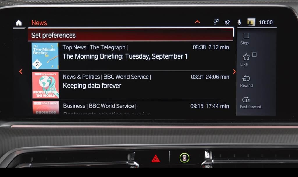 BMW iDrive 7.0的最新創新為BMW News App應用程式(需搭配BMW Live Cockpit、BMW Live Cockpit Plus或BMW Live Cockpit Professional此三種等級數位座艙),該App將於2021年4月作為BMW Connected的一部分提供,並為駕駛提供選定的音響內容。其根據駕駛的意願和需求量身定制,依照個人興趣從選定發佈者的作品中選擇當前的線上新聞,並可透過車輛的音響系統以自然語言的形式語音播放。