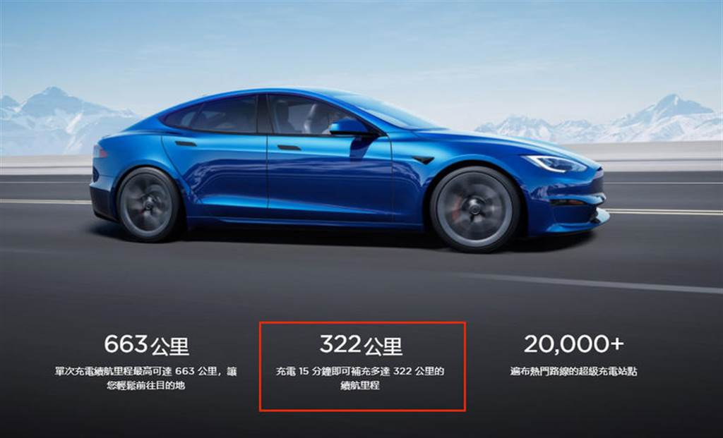 充電性能有感提升:新版 Model S 充電 15 分鐘補 322 公里續航里程,暫居特斯拉全車系第一