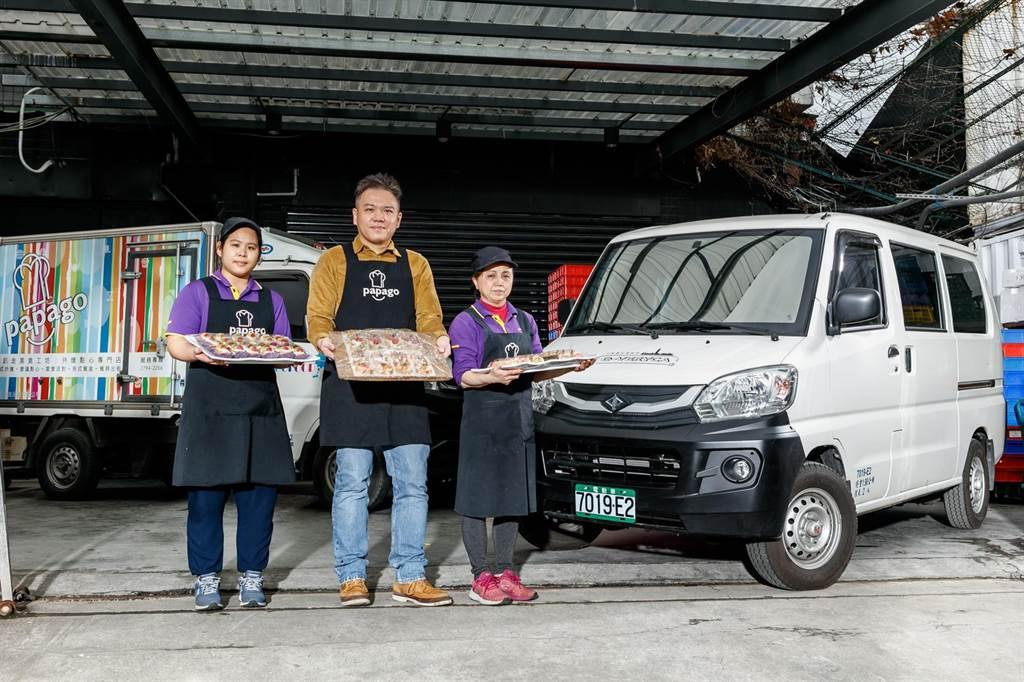 趴趴走美食工坊購買e-VERYCA作為外燴車。