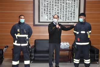 苗栗縣消防局 獲贈消防衣專用洗潔劑