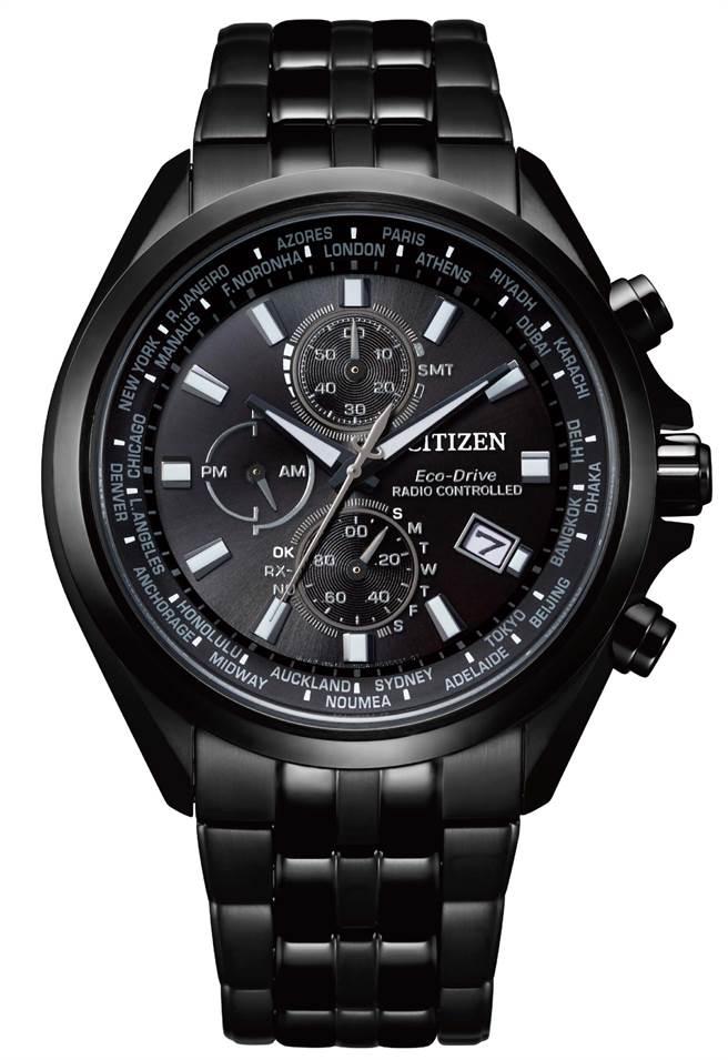 CITIZEN光動能全球電波對時表,2萬8800元。(CITIZEN提供)
