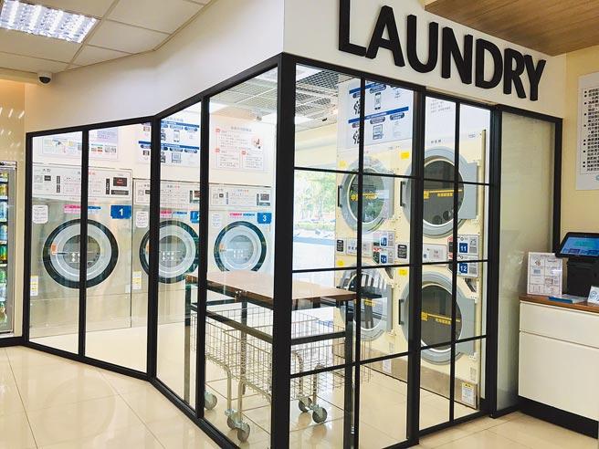 全家自助洗衣複合店主打智能化、自動化洗衣,迄今全台已開出12家店,今年將加速擴大複製,預計店數要拚倍增。圖/劉馥瑜