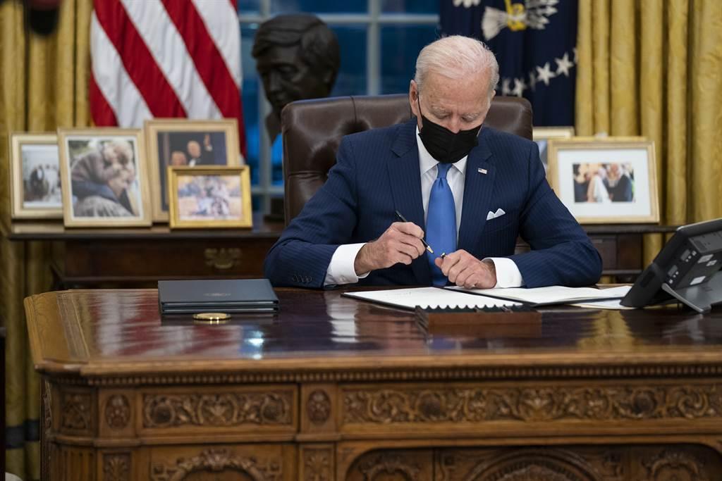 1月20日正式入主白宮的拜登(Joe Biden),就職至今正好滿兩週。(圖/美聯社)