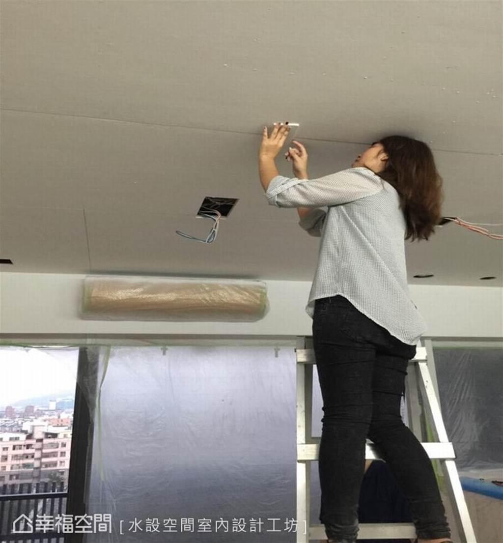 被妥善包覆的冷氣機(圖片提供/水設空間室內設計工坊)