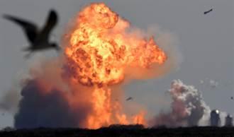 影》SpaceX「星艦」SN9火箭衝上10公里高空 墜落炸成火球