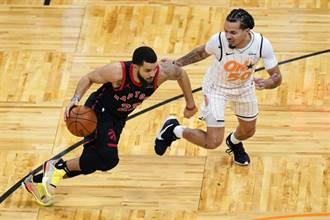 NBA》暴龍痛宰魔術 范維利特11顆三分球54分逞威