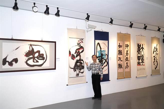 新竹縣文化局美術館即日起至3月7日止,共有4檔展覽同館展出,讓參觀民眾一飽眼福,感受不同類型藝術之美。(莊旻靜攝)