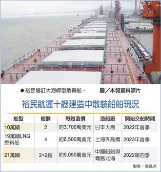 壓寶運價...裕民增造4艘船