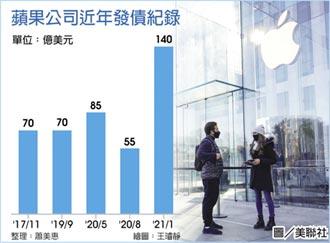 蘋果發債140億美元 規模今年之最