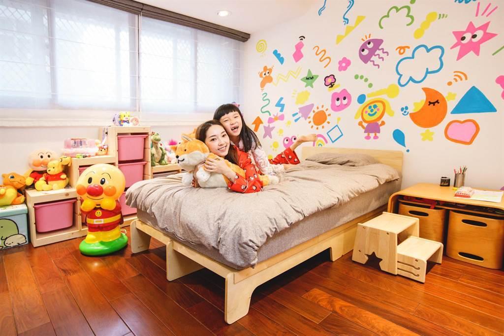 翁馨儀女兒的房間。(圖/FB@翁馨儀)