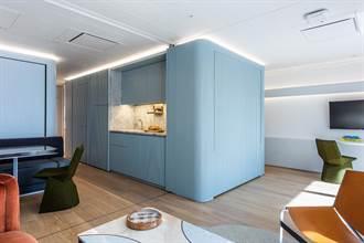揉入變動性與多功能概念 切換出兩房的海上公寓