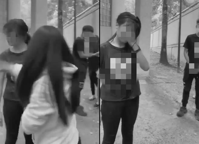 高雄鳳山一名少女遭霸凌,黃捷不捨,警方已將相關涉案人移送法辦。(圖/摘自爆料公社)