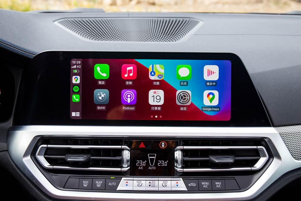 BMW是最早用上無線Apple CarPlay的品牌,而隨著其他品牌也具備此功能後,BMW走的更前面讓Android Auto也支援無線連接。(陳彥文攝)