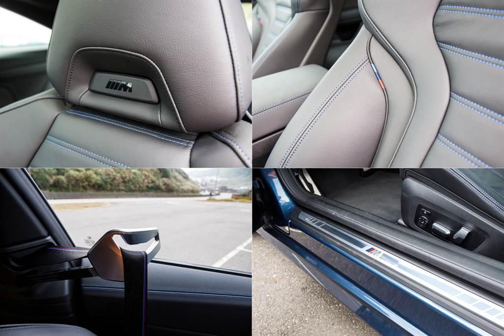 在車室內隨處可見代表M部門的小細節,另外,安全帶自動遞送裝置也是本次改款新增的貼心配備。(陳彥文攝)